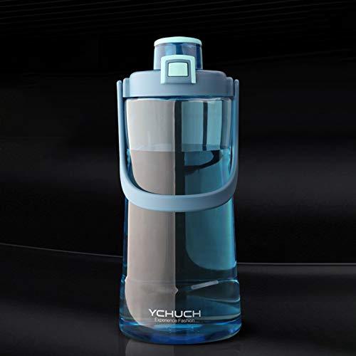 GHFJ Botella Deportiva de Plástico Sin BPA con Filtro & Marcador de Tiempo para Niños y Adultos,Hogar y Exterior Plástico de Poliéster