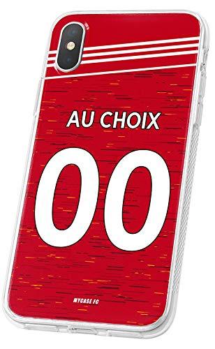 Cover Calcio Personalizzabile Manchester United IPhone 7 in Silicone, Custodia di Calcio per Smartphone Personalizzata e Made in France in TPU