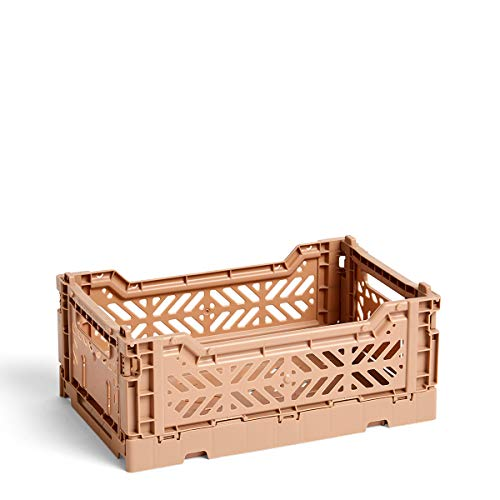 HAY Colour Crate S Transportbox, Kunststoff, Nougat, 26,5cm