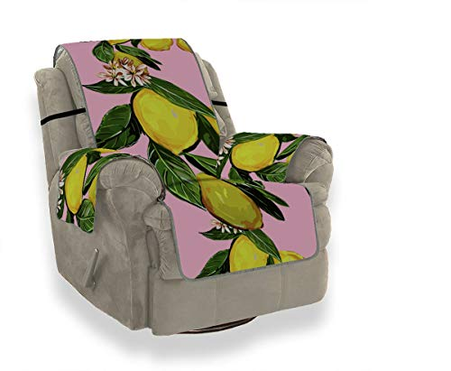 Yushg Summer Fashion Flower Fruit Lemon Recliner Schnittsofa Bezug Schonbezüge für Stühle Sofa Polsterbezug 21