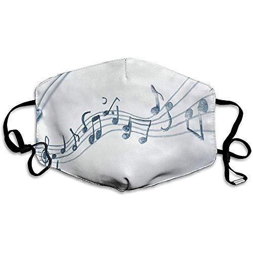 Gooeyokoi Mundschutz Musiknoten Mikrofon Waschbar Atmungsaktive Staubdicht Schutz Bandana mit Filter
