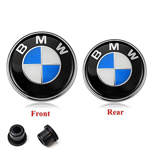 Hisport Car Emblem Hood/Trunk Car Logo Replacement for BMW Accessories (front+back / 82mm+74mm)