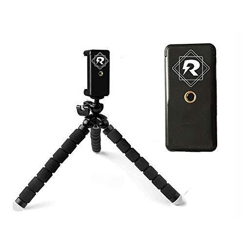 Rebely Stativ für Smartphone - Flexibles Tripod Stativ für Smartphone - alle Arten von Handys Android und iPhone - Der Flexible Handystativhalter für alle Smartphones - leicht drehbar und stabil