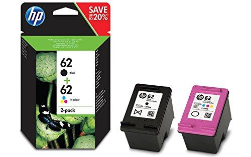 HP 62 2-pack Black/Tri-color Original Ink Cartridges cartuccia d'inchiostro Nero, Ciano, Magenta, Giallo