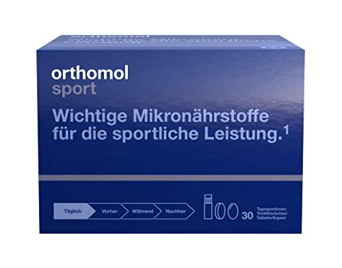 Orthomol Sport Drinking Cup, 30 Piece:Dietary Supplement with L-carnitine, coenzyme Q10 and Omega-3 Fatty acids.