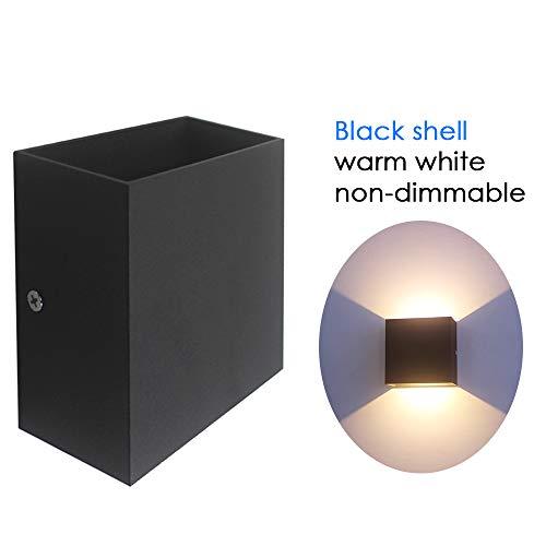 Bobique AC 85-265V 6W Cubo LED Apliques de Pared Luz COB Moderna Lámpara de Pared Accesorios de iluminación montados para Pasillo Escalera Mesilla de Noche Pasillo Porche