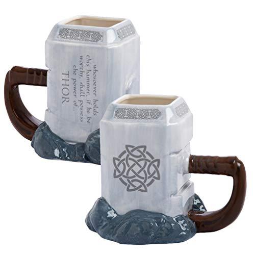 EASTVAPS Taza de Modelado Thor 3D Vaso de Agua Animado de Gran Volumen Taza de cerámica Martillo