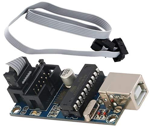 TECNOIOT USBTiny USBtinyISP AVR USB Tiny ISP Programmer Bootloader with Programming Cable