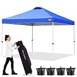 ABCCANOPY 10'x10' Pop up Canopy Instant Outdoor Tent Instant Shelter, Bonus Wheel Bag, Royal Blue
