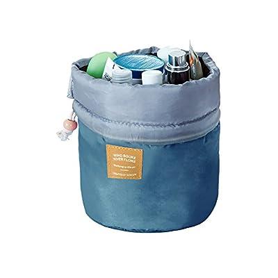 Travel Cosmetic Bucket Storage Bag Barrel Draws...