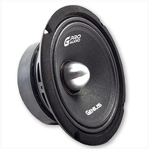 Genius Audio GPRO-M1065B 6.5  300 Watts Max 150 Watts RMS Pro Audio Midrange Speakers Aluminium Bullet Car Audio Speaker Ferrite Magnet 4 Ohm Reinforced Paper Cone (1 Speaker)