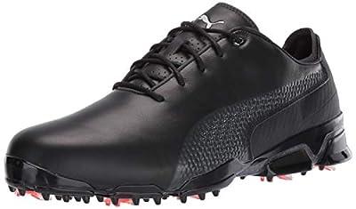 PUMA mens Ignite Proadapt Golf Shoe, Puma Black-dark Shadow, 9.5 US