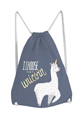 Sportbeutel Sport Rucksack Tasche Turnbeutel Bag Beutel Gymsack mit witzigen lustigen niedlichem Motiv Alpaka Lama Alpaca mit Spruch Unicorn Geschenkidee Ostern Geburtstag