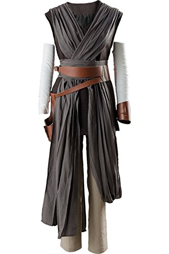 Cosplaysky Women Halloween Tunic Outfit for Rey Costume Ver.2 XXX-Large Grey - http://coolthings.us