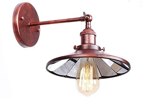 BVYHGCVBW Lámpara de Pared Retro Vintage E27 Luz de Pared Industrial de Interior Sombra Aplique de Pared Accesorios de iluminación Brazo oscilante Ajustable Lámparas de Pantalla de Metal Vintage