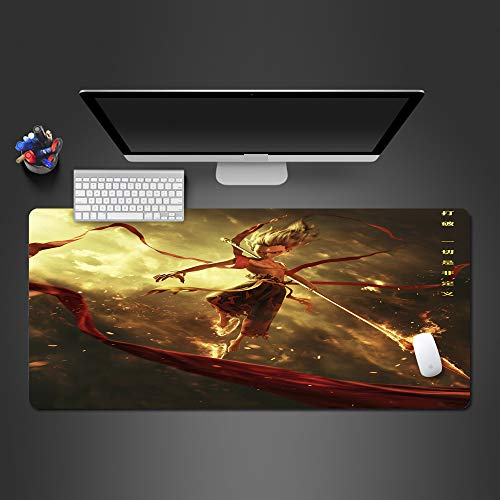 WeTTao Pad Mythos Animation 800x300mm Gaming Mauspad Mousepad spezielle Oberfläche verbessert Geschwindigkeit und Präzision rutschfest Maus Pad Gamer Mauspad Matte Große Schreibtisch Tastatur Spielen