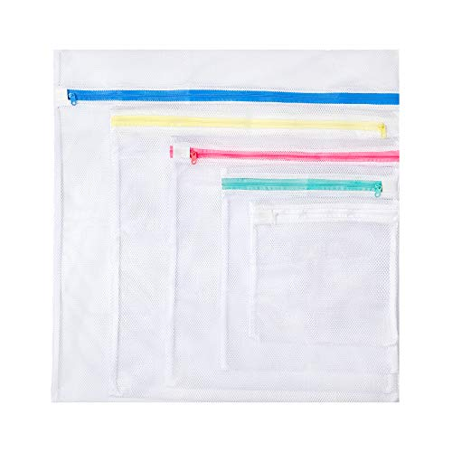 Excellent 5Pcs Laundry Bags Mesh Laundry Bags for Washing Machine Fine Mesh Laundry Bags for Lingerie Big Clothes Bed Sheet Bed Cover Blouse Bra Hosiery Stocking Underwear Stuffed Toys