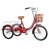 M-YN Triciclo Adulto Triciclos Adultos 20 Pulgadas 3 Bicicletas de Ruedas, Bicicletas de Tres Ruedas CRUCER Trike con...