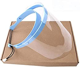 JHMENG Face Shields with Flip-up Visor for Men Women with Adjustable Drawstring Includes 10 ReplaceableVisors (1 Pack)