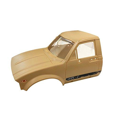 ACHICOO Modellautoteile, C14 2.4G 1/16 Kletterer RC Car KIT mit Vier Antrieben und Servomotor gelb