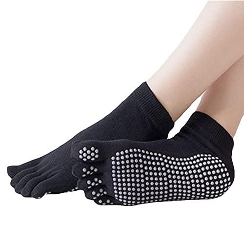 LieblingsAdi Calcetines de yoga con punta completa gimnasio deporte antideslizante pilates fitness running calcetines antideslizantes calcetines zapatillas
