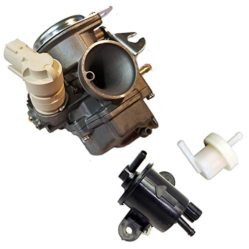 ZOOM ZOOM PARTS NEW CARBURETOR FUEL PUMP FUEL FILTER CARB FOR 2003-2018 HONDA RUCKUS 50 NPS50 REPLACES PART # 16100-GGA-672 FREE FEDEX 2 DAY SHIPPING