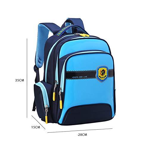 Hanggg schooltas basisscholieren 6-12 jaar oud waterdichte verlichting kinderen schooltas 1-3-6 klasse jongens en meisjes schoudertas S blauw