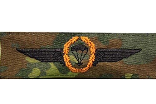 Unbekannt Bundeswehr Abzeichen Fallschirmjäger -Bronze- Springerabzeichen Textil Aufnäher