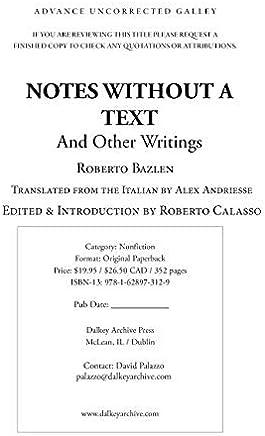 Slikovni rezultat za Roberto Bazlen, Notes Without a Text and Other Writings,
