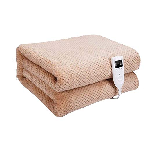 CRYX plaid, elektrisch, groot, 200 x 180 cm, deken van molton, elektrische deken, Overblanket, met timer, 3 temperatuurinstellingen