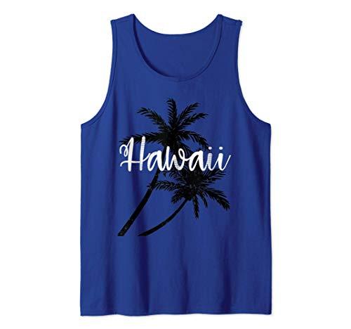 Palmeras de vacaciones de primavera de Hawaii Camiseta sin Mangas