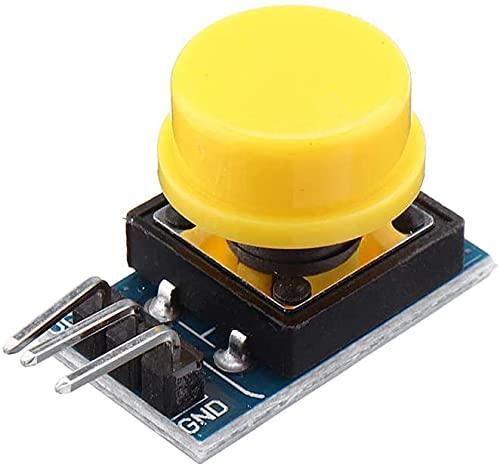 Módulo de Interruptor de Llave de 12x12mm Módulo Táctil Tacto Interruptor Interruptor Non-Blocking con Tapa Rojo/Negro/Amarillo/Verde/Azul 25pcs Módulo Electrónica Piezas