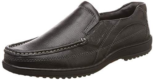 1. Lee Cooper Men Black Leather Loafers