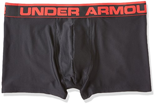 "Under Armour Men's Original Series 3"" Boxerjock, Black /Red, XX-Large"