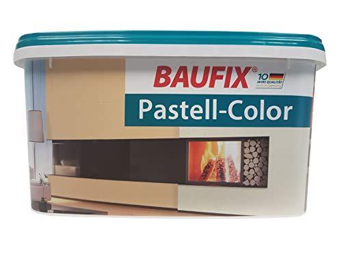 BAUFIX Pastell Color Wand & Decken Farbe 5 liter Matt Farbton Wählbar, Farbe:Cafe Latte