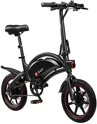 morpilot DYU E-Bike, Faltbares Elektrofahrrad mit 14-Zoll-Reifen, Geschwindigkeit von bis zu 25 km/h, 50km Reichweite, 250W Motor, 10Ah-Akku, 36V Pedelec mit Pedal, Ho?henverstellbare Sattelstütze