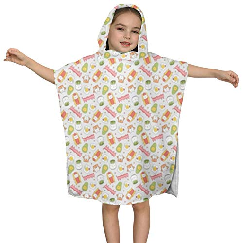 Super Soft Kids Beach Towel with Hood for Boys Girl...