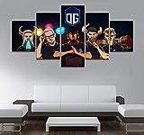 5 Panel campeón Juego Lienzo Pintura Impresa para Sala de Estar decoración de...
