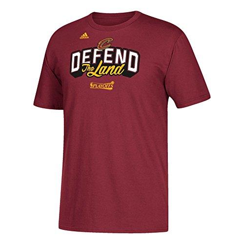 adidas Camiseta de los Cleveland Cavaliers 2017 Defend The Land de la NBA color del equipo, M, Granate