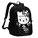 Cute Hello Kitty Backpack Personality with USB Backpack Laptop Bag Waterproof Travel Daypack