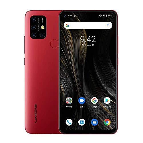 UMIDIGI Power3 Android 10 Smartphone ohne Vertrag günstig 6.53 Zoll FHD+ FullView Bildschirm 5G WiFi Handy 4GB+64GB ROM, Global Version, Dual SIM, 48MP, 13MP Kamera NFC (Rosa)