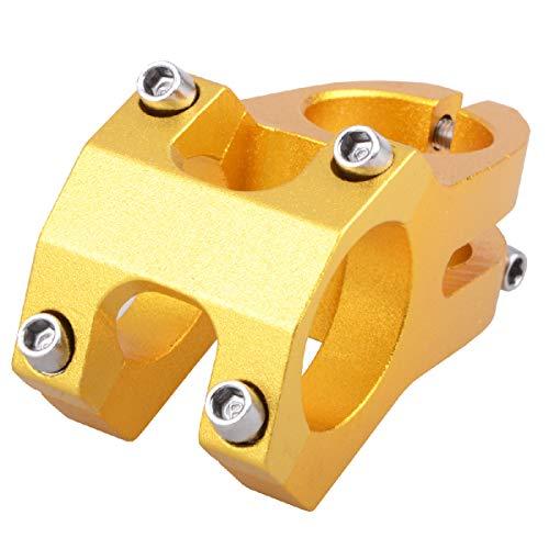 Azarxis Aluminiumlegierung Vorbau, 31.8mm 40mm Mountainbike Lenker, Fahrradlenker Vorbau für die meisten Fahrrad MTB Rennrad (Gold)