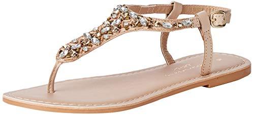 Dorothy Perkins Women's Ankle Strap Sandals, Beige Nude 835, 5 Big Kid
