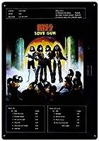 なまけ者雑貨屋 KISS - Love Gun ブリキ看板 アメリカン 壁掛けプレート レトロ雑貨 インテリア