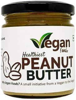 Vegan Foods Peanut Butter All Natural - UNSWEETENED | 100% Roasted Peanut | Vegan