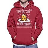 Photo de Cloud City 7 Gudetama Ho Ho Meh Christmas Knit Men's Hooded Sweatshirt