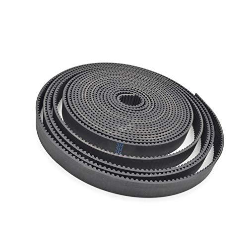 Lruirui-correas de distribución ARC HTD 3M Cinturón de tiempo abierto 3M-15mm, ancho 15 mm, longitud 5000 mm, fibra de vidrio de goma HTD3M, Polea de correa de distribución abierta CNC 5 MEZCLADOS Cor