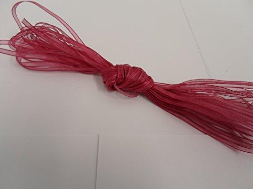 Beautiful Ribbon 1 Rouleau de Ruban en Organza 3mm Pure x 10 mètres Vieux Rose Double Face faveurs 3 mm
