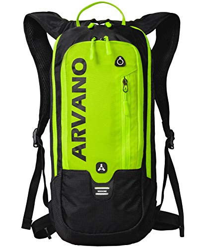 Arvano Mountain Bike Backpack Small Cycling Backpack Biking Daypack Lightweight Breathable Ski Rucksack 6l Running Bag MTB Bicycle Skiing Riding Day Hiking Snowboarding Climbing Men Women