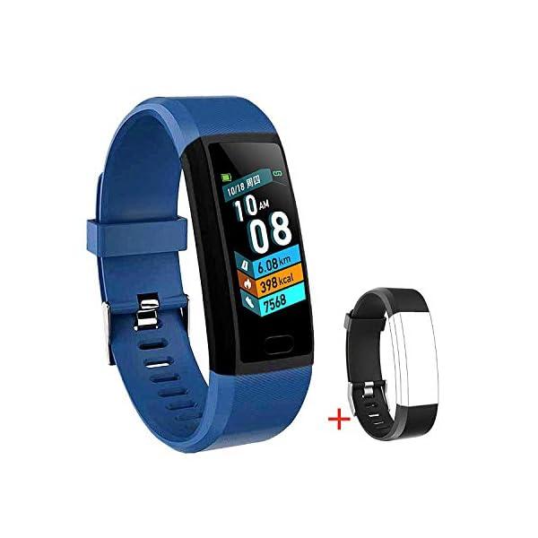LIYINGKEJI Pulsera de Actividad, smartwatch, Monitor de frecuencia cardíaca y Reloj Deportivo de presión Arterial Reloj… 1